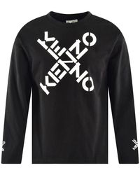 KENZO Black X Logo Long Sleeve T-shirt