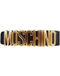 Moschino Gold And Black Branded Belt