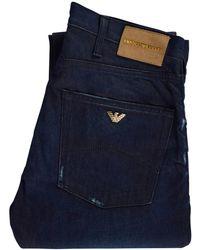 Emporio Armani Dark Blue J45 Regular Fit Jeans