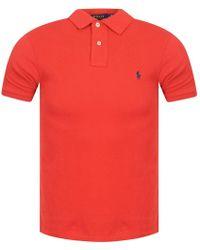 Polo Ralph Lauren - Red Polo Shirt - Lyst