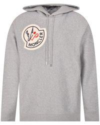 2 Moncler 1952 Grey Logo Hoodie