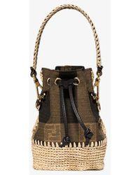 Fendi Brown Mon Tresor Mini Bucket Bag