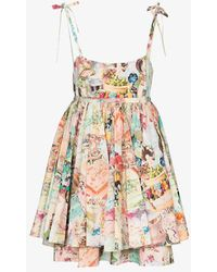 Marc Jacobs The Babydoll Cake Print Dress - Multicolour