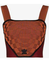 adidas X Paolina Russo Ribbed Corset Top - Orange