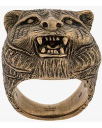 Gucci - Tiger Head Ring - Lyst