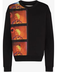 Dries Van Noten Haf Bis Printed Cotton Sweatshirt - Black