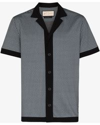 PREVU Carman Printed Short Sleeve Shirt - Black