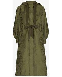 Erdem William Floral Jacquard Belted Coat - Green