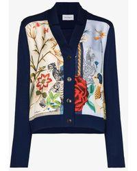 Ferragamo V-neck Button-down Cardigan - Blue