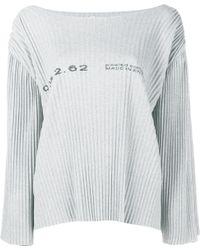 Faustine Steinmetz - Pleated Cotton-blend Jumper - Lyst