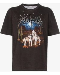 Miu Miu - Desert Print T-shirt - Lyst