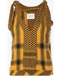 Cecilie Copenhagen Topanga Sleeveless Cotton Top - Yellow