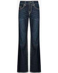 True Religion Ricky Super T Straight Jeans - Blue