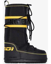 Fendi X Moon Boot Snow Boots - Black