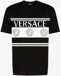 Versace Logo-print T-shirt - Black