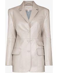 Matériel Single-breasted Faux Leather Blazer - Multicolor