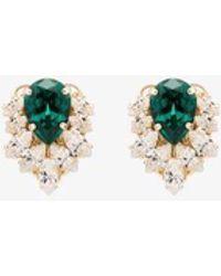 Anton Heunis Gold-tone Emerald Crystal Cluster Earrings - Green