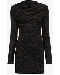 RTA Harper Gathered Mini Dress - Black
