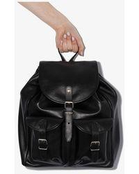 Saint Laurent Black Venice Leather Backpack