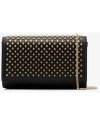 Christian Louboutin - Black Paloma Spike Leather Clutch - Lyst