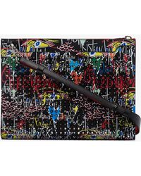 Christian Louboutin - Sky Loubitag Spike Embellished Pouch - Lyst