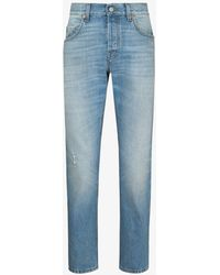 Gucci Eco Bleached Tapered Jeans - Blue