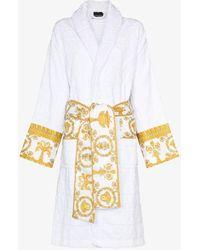 Versace I Love Baroque Cotton Robe - White