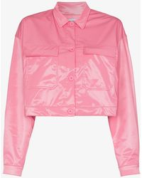 Maisie Wilen Cropped Glossy Jacket - Pink