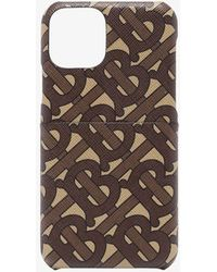 Burberry Brown Rufus Monogram Print Iphone 11 Case