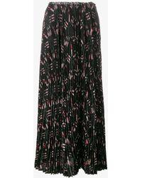 Valentino - Love Blade Print Pleated Skirt - Lyst