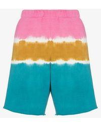 The Elder Statesman Tie Dye Track Shorts - Blue