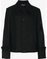 Ann Demeulemeester - Floral Embroidered Arm Patch Jacket - Lyst