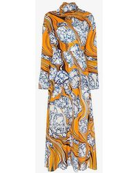 Rosie Assoulin - Scarf Dress With Cinched Waist - Lyst