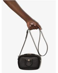Ferragamo Gancini City Leather Cross Body Bag - Black