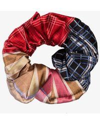 Ganni Check Print Scrunchie - Multicolor