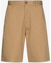 WOOD WOOD Cotton Bermuda Shorts - Natural