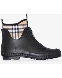 Burberry Flinton Rain Boots - Black