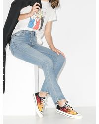 Converse Black & Red Flame Chuck 70 Low Trainers - Multicolour