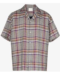 Lou Dalton Check Button-down Shirt - Purple