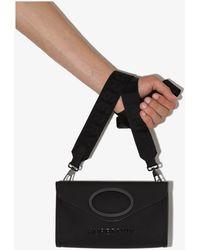 Burberry Pocket Leather Messenger Bag - Black