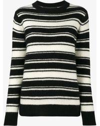 The Elder Statesman - Stripe Long Sleeve Jumper - Lyst