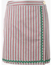 JOUR/NÉ - Stripe Wrap Skirt - Lyst