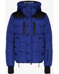 3 MONCLER GRENOBLE Hooded Padded Jacket - Blue