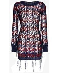 Faith Connexion - Distressed Mohair Jumper Dress - Lyst