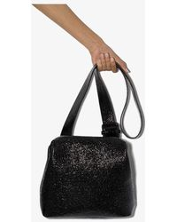 OSOI Black Brot Wrinkled Leather Shoulder Bag