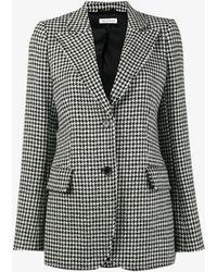 Bella Freud Isaacs Houndstooth Wool-blend Blazer - Black