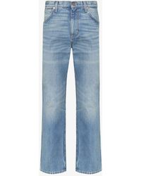 Gucci Faded-effect Straight-leg Jeans - Blue
