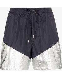 Juun.J Metallic-panel Drawstring Shorts - Blue