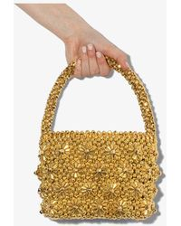 Shrimps Shelly Beaded Tote Bag - Metallic
