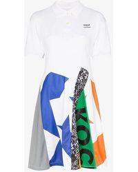 Converse X Koché Patchwork Polo Dress - White